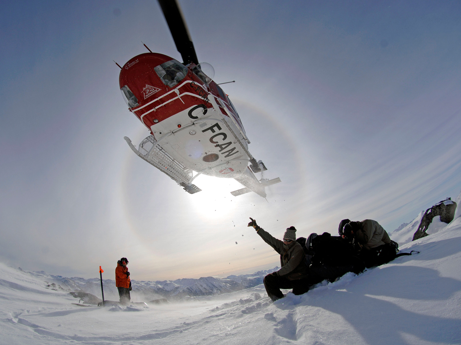 Heli-skiing on one of Canada's most remote mountaintops